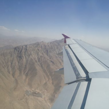 Safi Airways flying over Afghanistan's Mountains