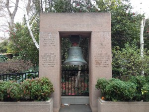 USS California Bell at California State Capitol Park Sacramento