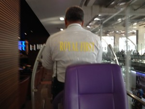 Thai Airways Royal First Class Golf Cart Transfer to the Lounge