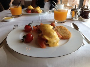 Park Hyatt Sydney The Living Room Breakfast Eggs Benedict with smoked salmon