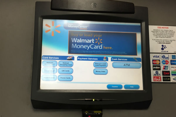 Walmart KATE Money Center Kiosk