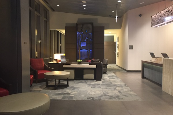 Hotel lobby of Hyatt Place Chicago Downtown The Loop