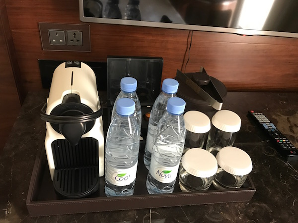 Conrad Makkah Suite Nespresso Machine and Bottled Water Hotel Review