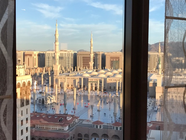 Prophet's Mosque View from the Pullman ZamZam Madinah Hotel