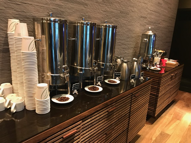 Kimpton Ink48 Hotel Review NYC Free Coffee in the Lobby