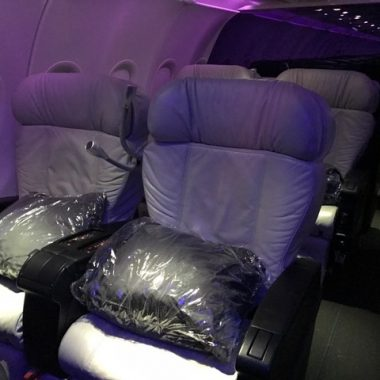 Virgin America First Class Cabin San Francisco to New York