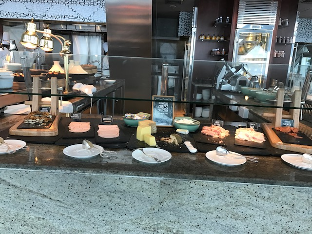 Hyatt Capital Gate 18 Degrees Breakfast Meat and Cheese Spread