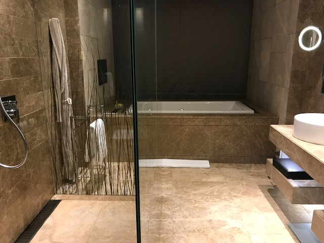 Master Bathroom of the Executive Suite at Hyatt Capital Gate Abu Dhabi