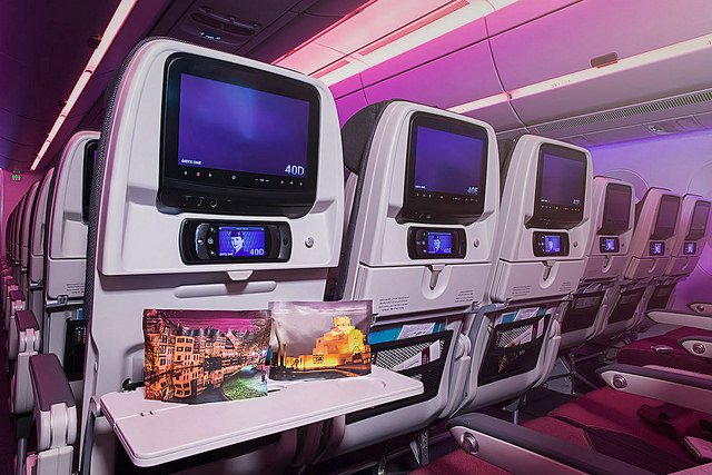 Qatar Airways Economy Class Cabin and Amenity Kit