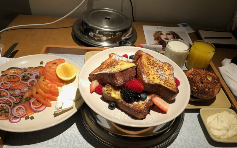Andaz 5th Avenue Globalist Breakfast French Toast and Gravlax