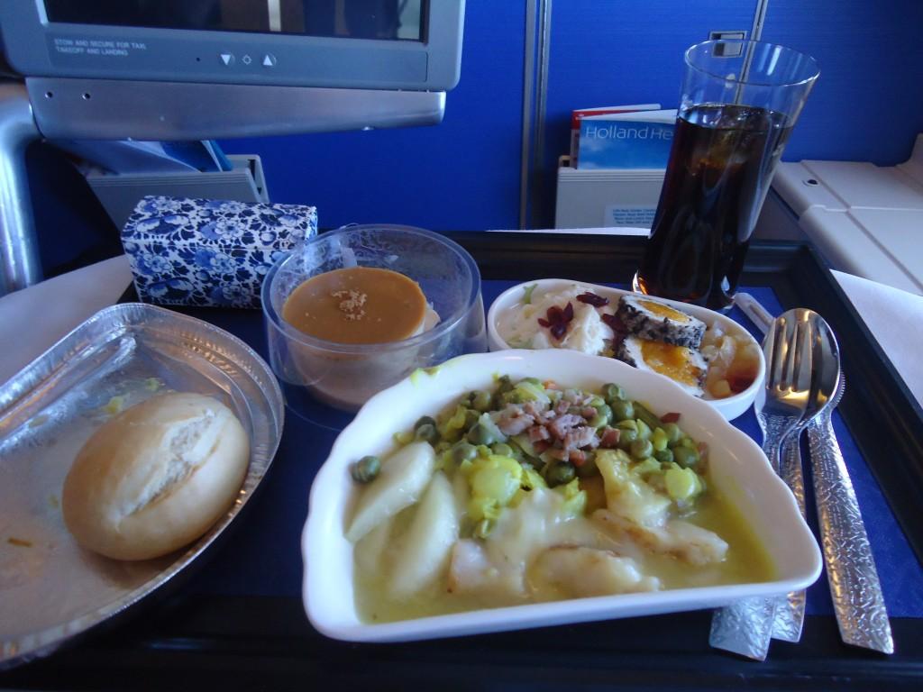 KLM Business Class Meal Captain's dinner