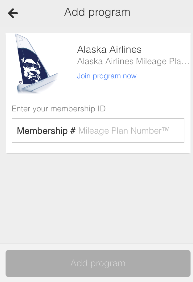 Google Wallet Award Tracking Alaska Airlines Mileage Plan