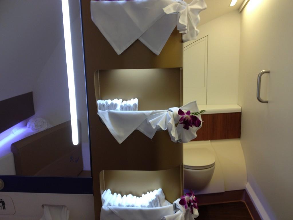 Thai Airways A380 First Class Bathroom Amenities
