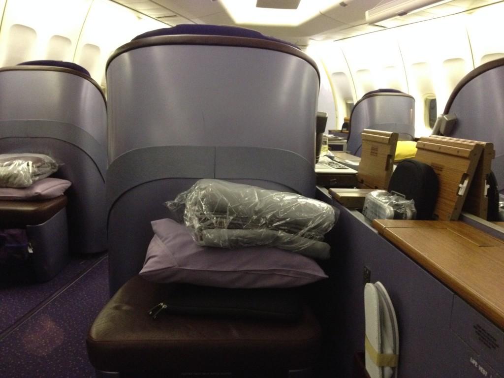 Thai Airways First Class Pillow Blanket and Rimowa Amenity Kit