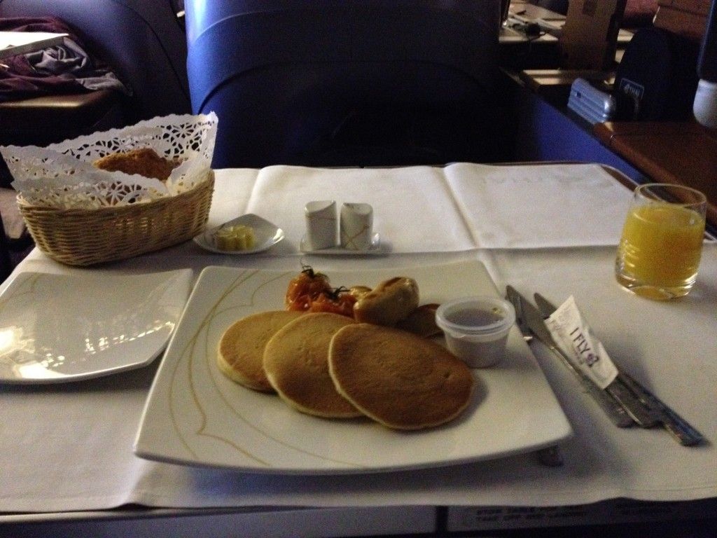 Thai Airways First Class Breakfast 747 Bangkok to Sydney