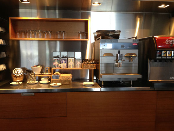 Drink Station at the Air New Zealand Business Class Lounge