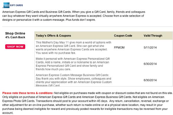 American Express Giftcards LuckyRewards
