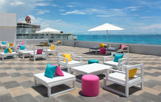 Aloft Cancun Rooftop Source: Hotel website