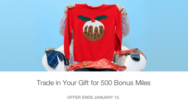 500 Rocketmiles for your unwanted gifts