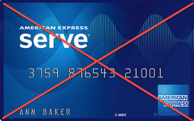 American Express Serve shutdown
