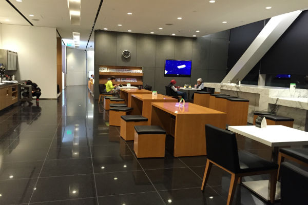 Cathay Pacific Business Class Lounge SFO Dining Area