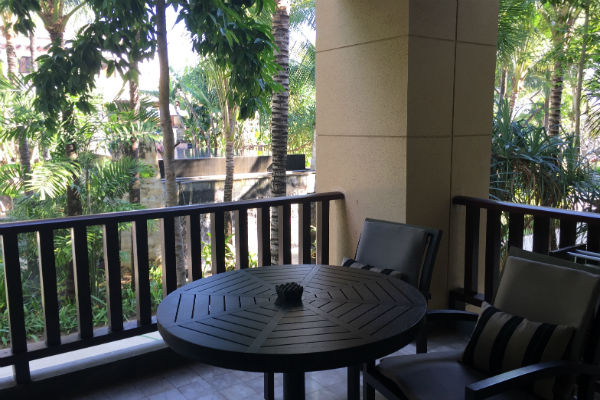 More seating on the balcony