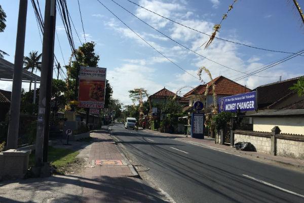 The area outside the Conrad Bali