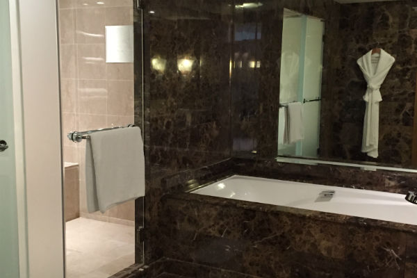 Bathroom next to the suite bedroom