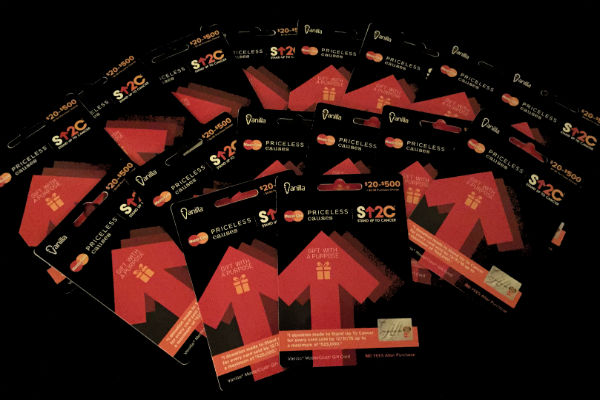Vanilla MasterCard Priceless Causes gift cards