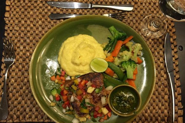Dinner on the first night at Villa Bulung Daya