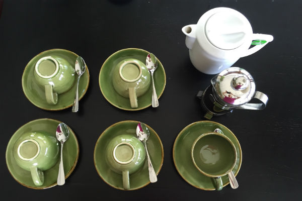 Afternoon tea and coffee at Villa Bulung Daya