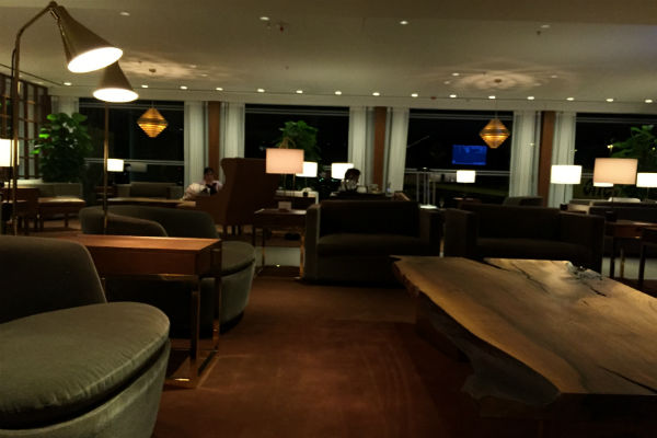 Cathay Pacific The Pier First Class Lounge Seating Area