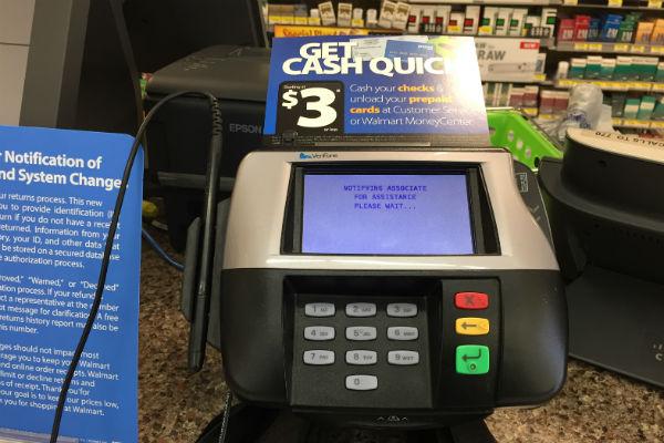 Neighborhood Walmart money center
