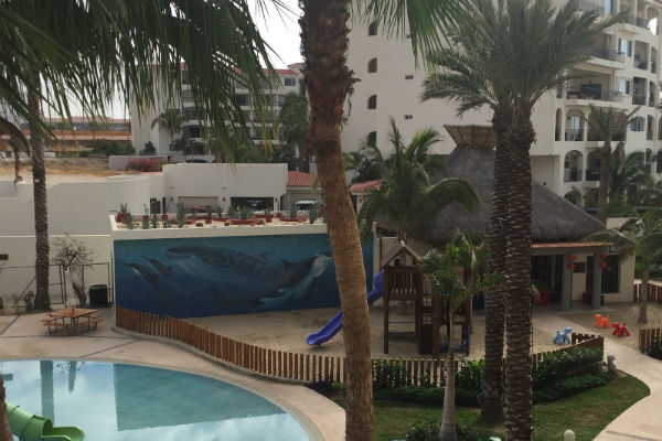 The kids club house at the Hyatt Ziva Los Cabos