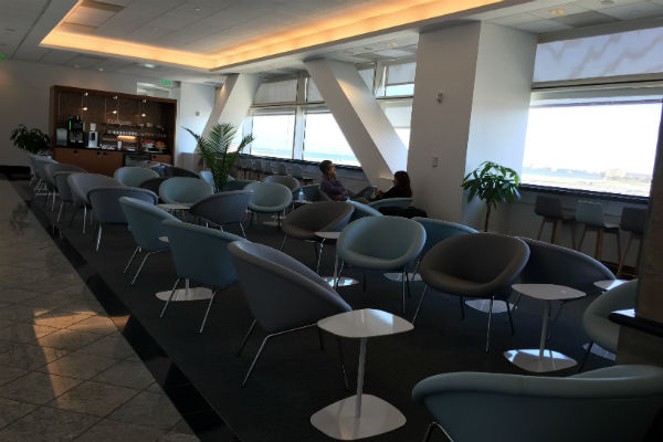 Seating Area at the SFO Air France KLM Lounge