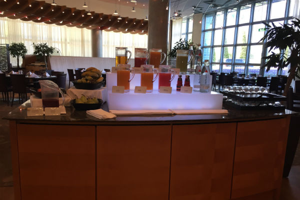 Juice Station at the Charles Lindberg Breakfast Buffet
