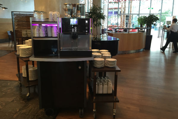 Charles Lindbergh Restaurant Breakfast Buffet Coffee Station