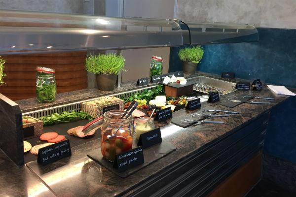 Hilton Munich Airport Breakfast Buffet at the Charles Lindberg Restaurant