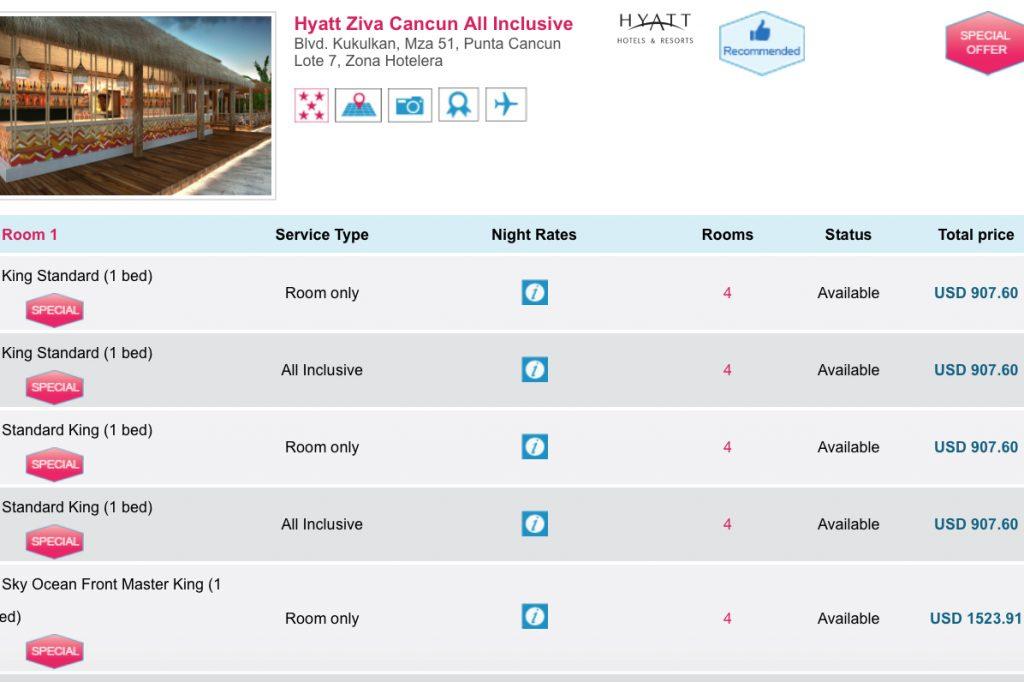 Club1 Hotels Hyatt Ziva Cancun Massive savings