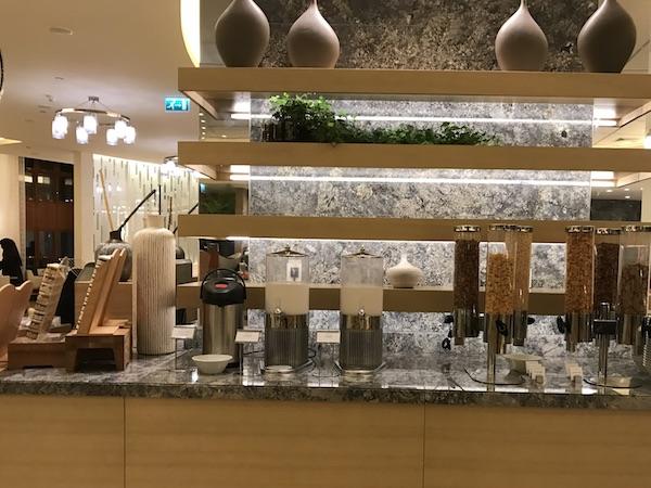 Review Conrad Makkah Al Mearaj Restaurant Breakfast Buffet Cereal Station