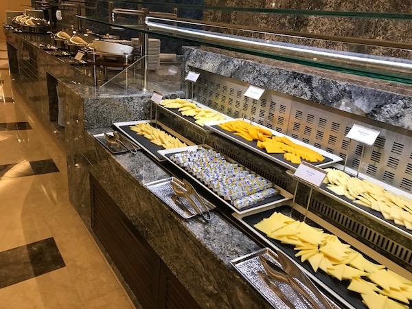 Review Conrad Makkah Al Mearaj Restaurant Breakfast Buffet Cheese Spread