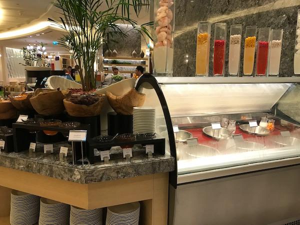 Conrad Makkah Al Mearaj Restaurant Breakfast Buffet Milk Selection