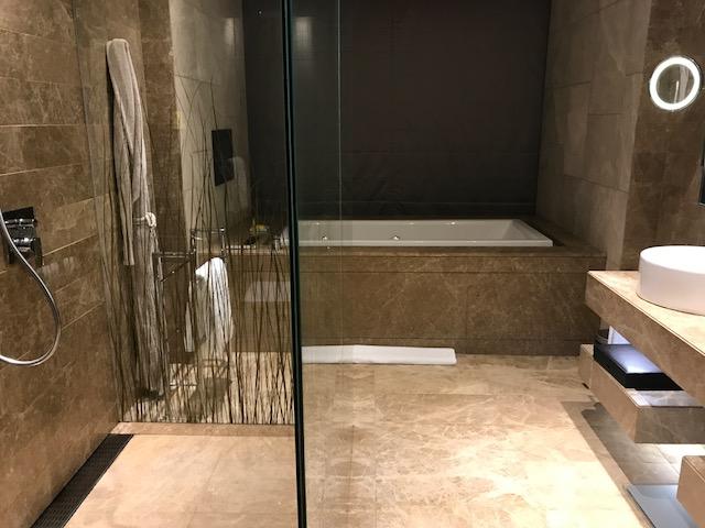 Master Bathroom of the Executive Suite at Hyatt Capital Gate Abu Dhabi