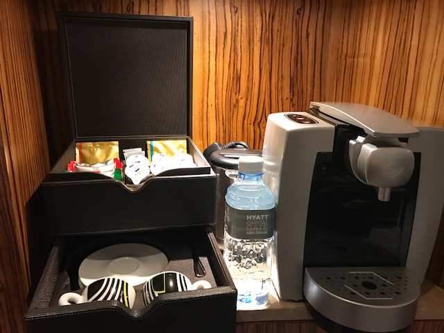 In-room espresso machine at Hyatt Capital Gate