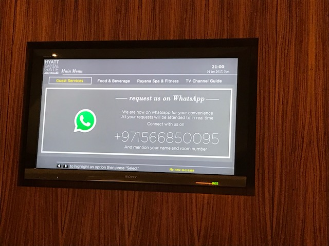 Hyatt Capital Gate WhatsApp Number