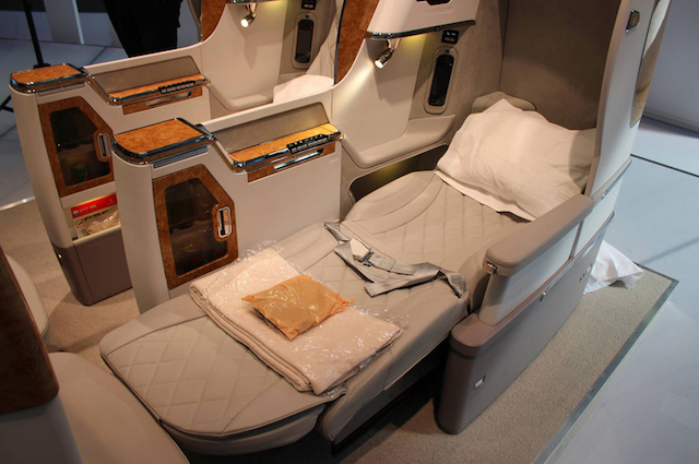 Emirates New Business Class Seat on the Boeing 777-300